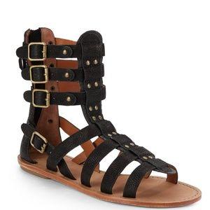 Ash Nomad Gladiator Sandal Shoes Black Size 8.5
